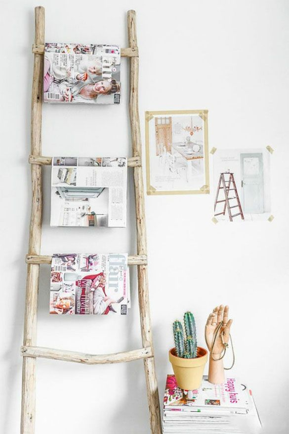 Ladders as decoration for your home - fancy-deco.com