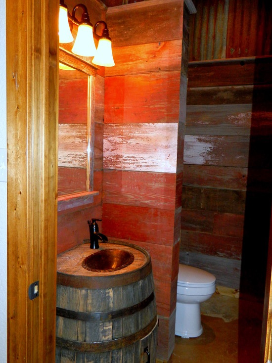 Whiskey Barrel Sink Design Pictures Remodel Decor And
