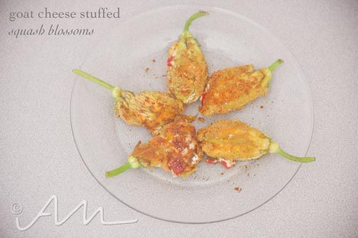 goat cheese stuffed squash blossoms | meatless monday recipes | Pinte ...