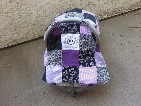 Disney Nightmare Before Christmas Baby Infant Car Seat Cover / Nursin ...