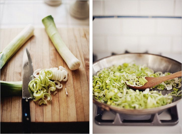 via sprouted kitchen creamy leeks, in book these are paired w/ soft ...