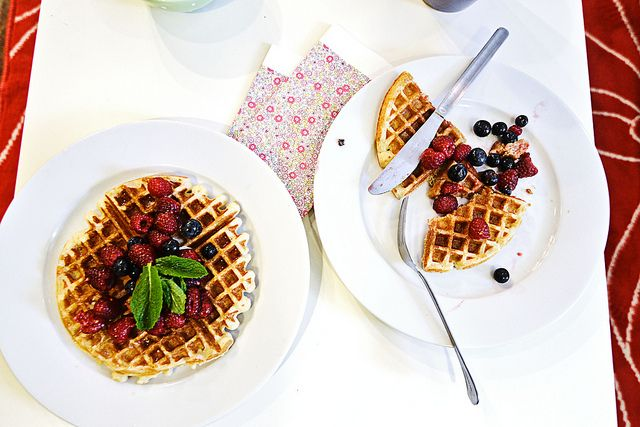 Cardamom-nutmeg waffles // turntable kitchen via daily nibbles