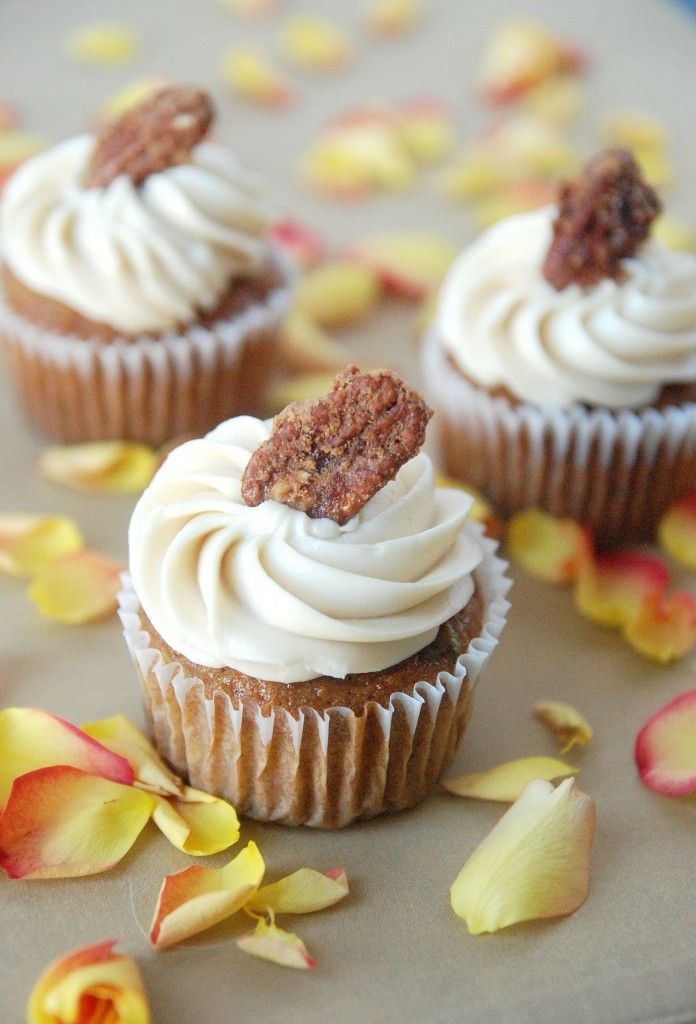 Carrot, Zucchini Cupcakes with Maple & Cream Cheese Brown Sugar Frost ...