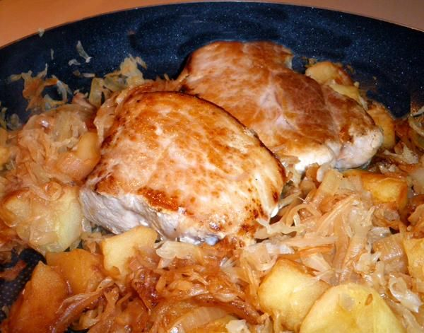 chops pork chops and sauerkraut stuffed pork chops with kielbasa and ...