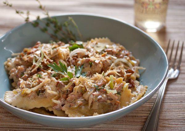 Chicken Marsala Ravioli w/ Wild Mushrooms, Leeks, Thyme in a Wine ...