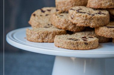 Gluten Free Maple Oat and Dried Cherry Shortbread