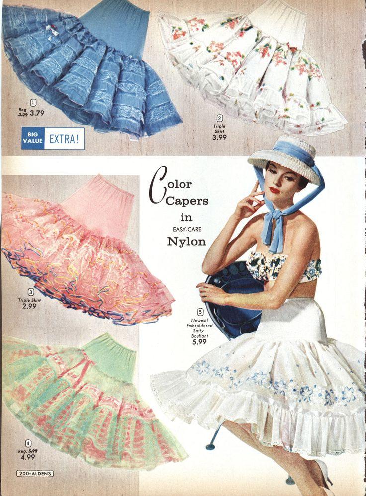 Petticoat advertisement, 1950s