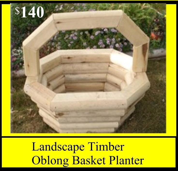 Landscape Timbers Planters : Landscape timber oblong basket planter pricelist
