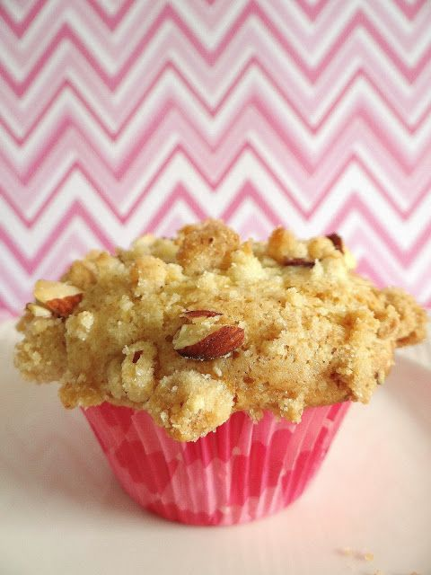 Rhubarb Muffins with Almond Streusel | Being a Bear Photos | Pinterest