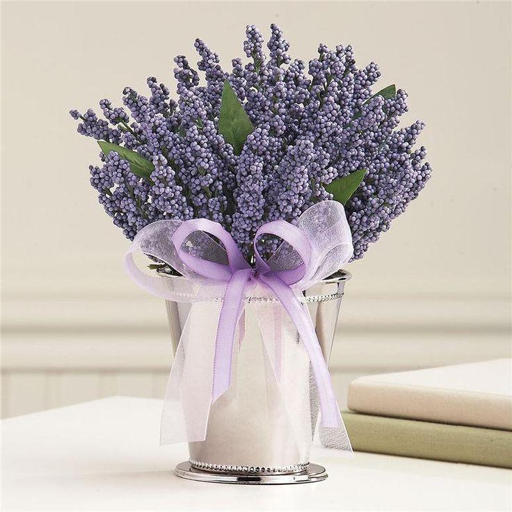 Lavender table arrangement wedding pinterest
