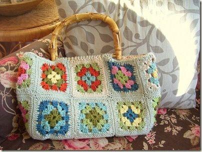 crochet granny square bag. Granny Square Love Pinterest