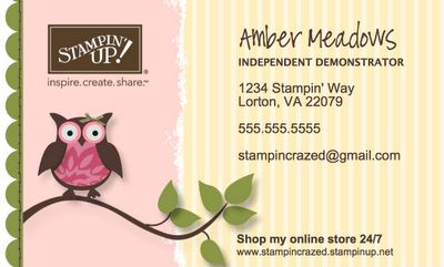 Stampin Up Business Cards