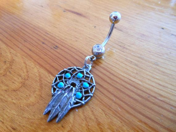 Belly button ring - Dream catcher