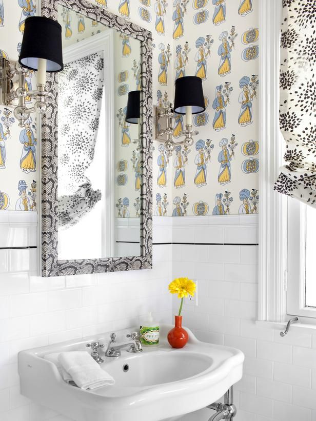 Packed With Pattern 10 Big Ideas For Small Bathrooms On HGTV