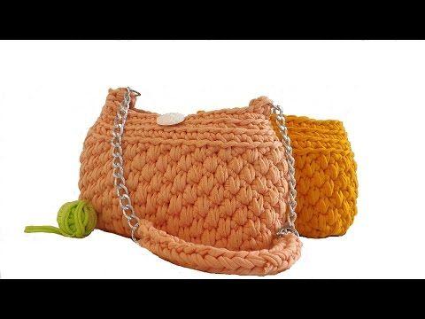 Вязание спицами сумки из трикотажной пряжи 44