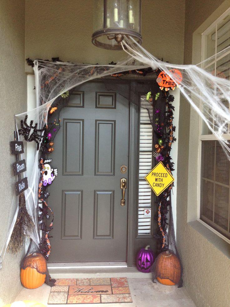 Halloween front door decorating  Halloween  Pinterest ~ 135011_Halloween Front Door Decorations