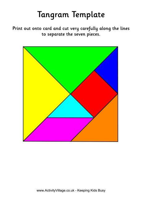 Tangram template - colour | TUDR | Pinterest