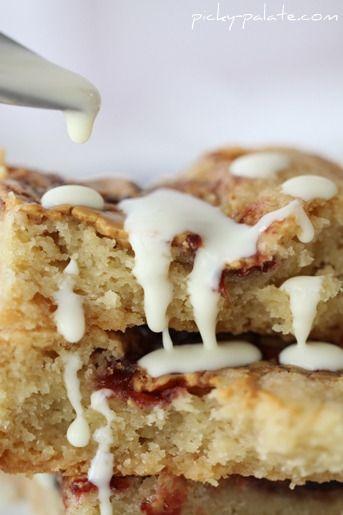 pb amp j shortbread cookie bars