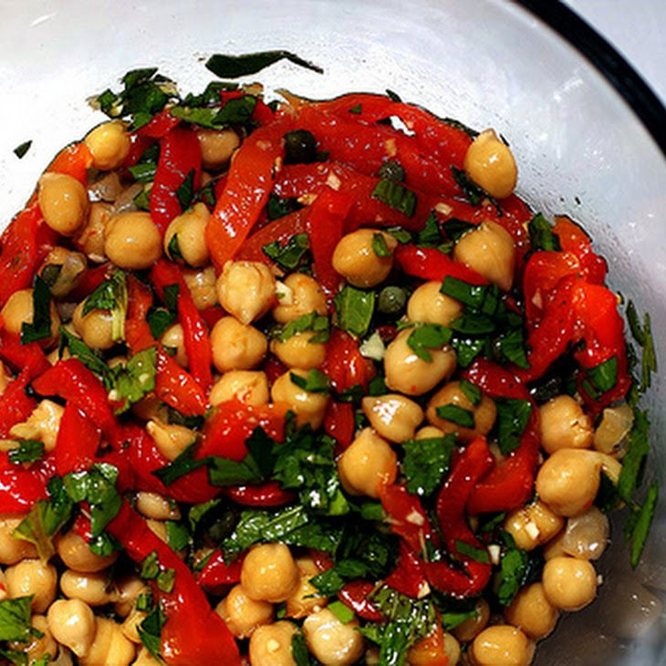 ... roasted chickpea snack roasted peppers chickpea salad roasted peppers