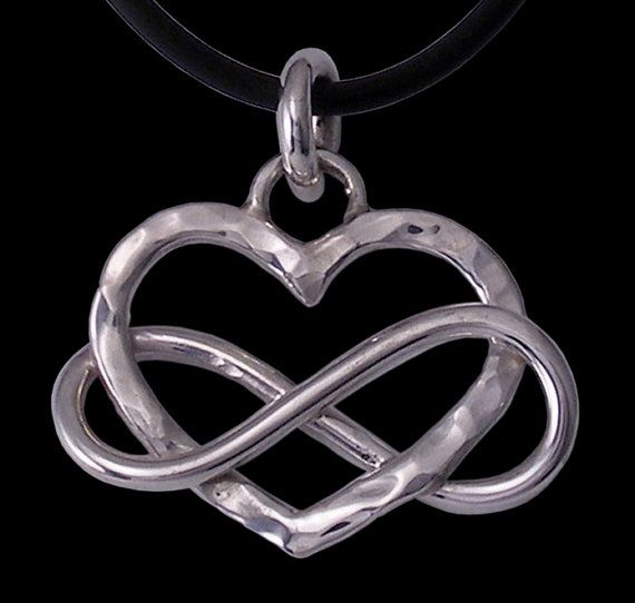 love forever eternal love heart and infinity symbol