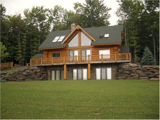 Pin by lexus fritz on future home pinterest for Log cabin with basement