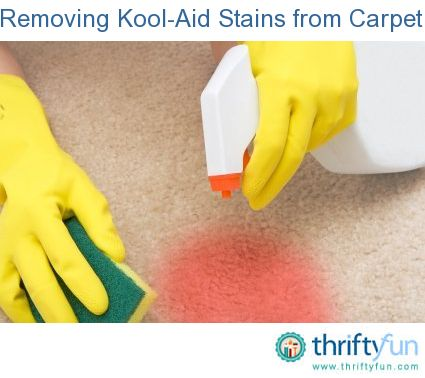 Removing kool aid stains from carpet tips tricks pinterest - Tips cleaning carpets remove difficult stains ...