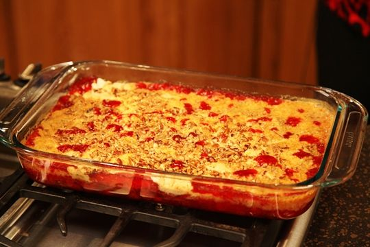 Cherry Cake Pudding is a quick and easy cherry cobbler recipe that ...