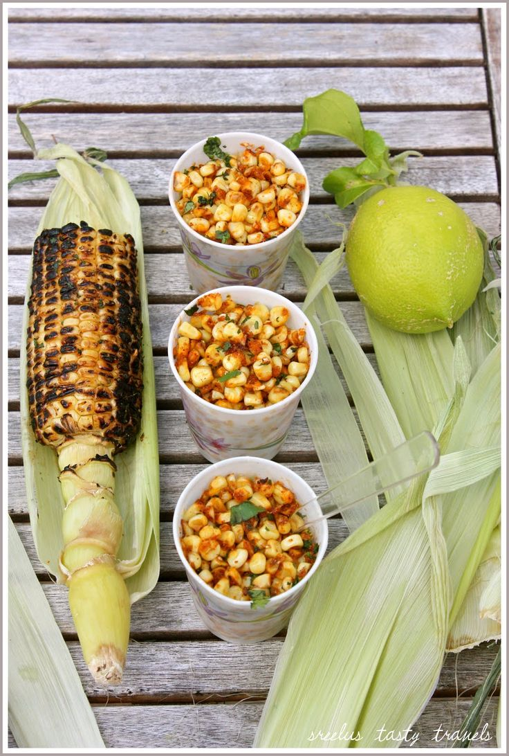 Spicy Roasted Corn on the cob With Taco Flavored Butter infused with ...