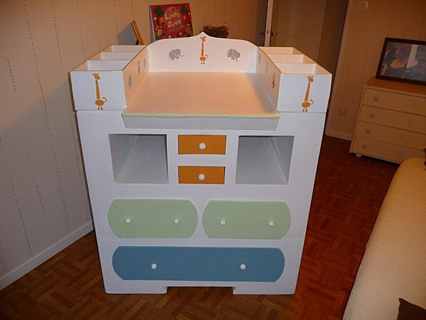 commode + table a langer Cardboard furniture Pinterest