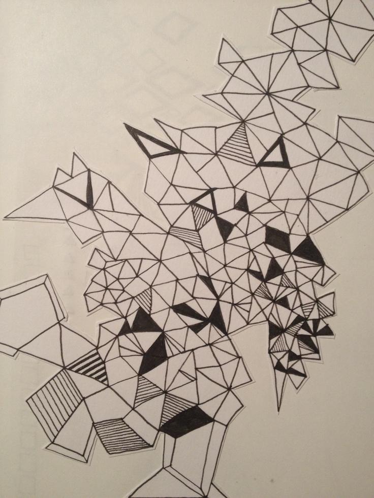 Geometric Line Art : Geometric line drawing bat mitz invite pinterest