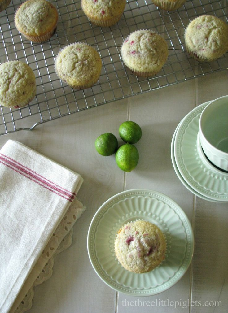 Raspberry Lime Muffins | To Eat! | Pinterest