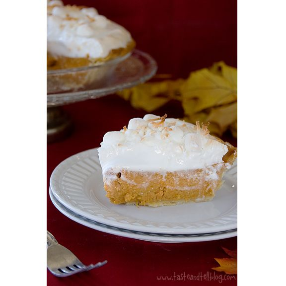 Sweet Potato Coconut Pie with Marshmallow Meringue @Taryn Davis, is ...
