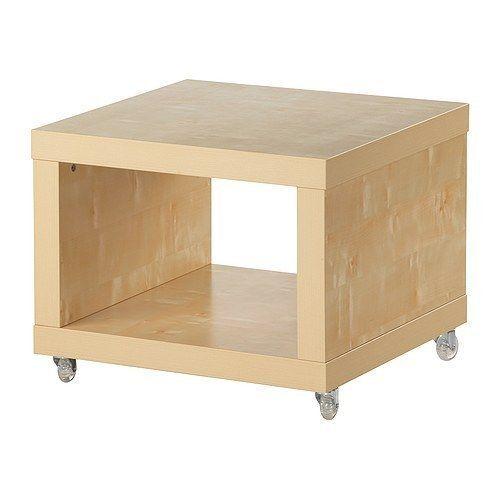 New IKEA Lack Coffee Side Table On Casters, Birch Effect