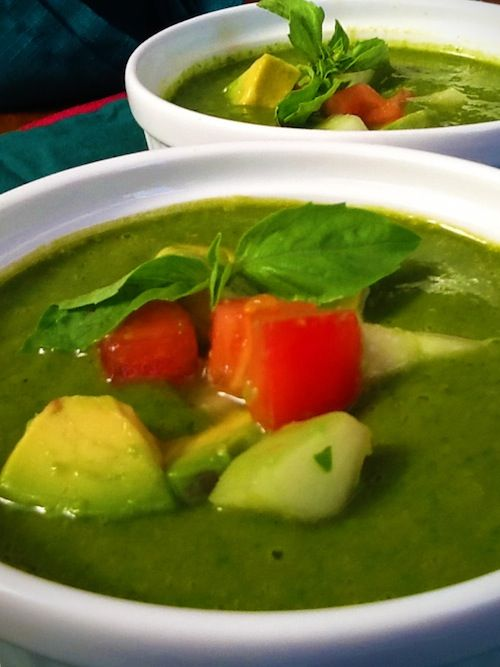 Creamy Gazpacho Verde #green | ercas. gruen | Pinterest