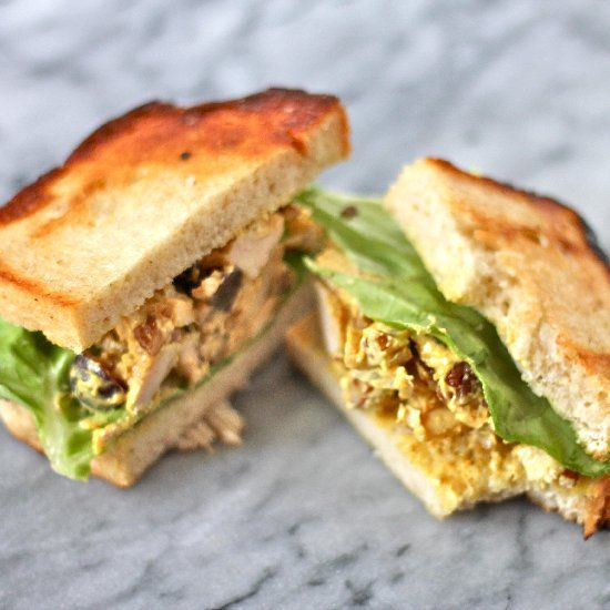Curry chicken salad sandwiches. | deliciousness | Pinterest