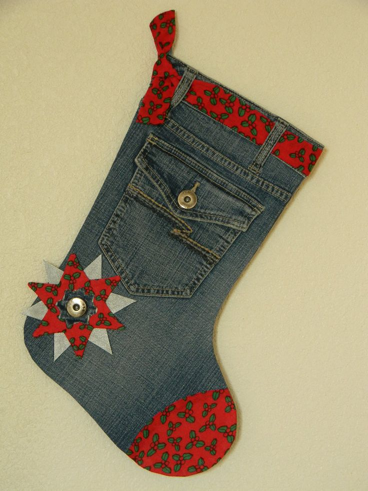 Jean Christmas Stocking | My Christmas Crafts | Pinterest