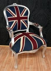 Barok chair with English flag