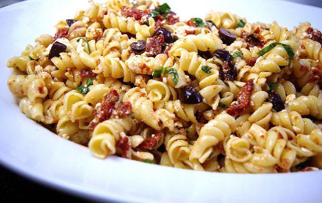Greek Pasta Salad With Sun-Dried Tomato Vinaigrette Recipe ...