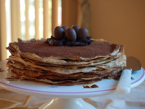 chocolate crepe cake fig amp cherry