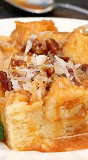 Caramel & Coconut Cream Bread Pudding | Recipe