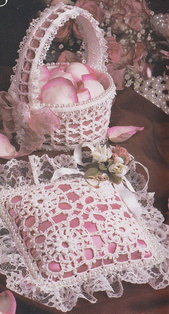 Crochet Flower Girl Basket Pattern Legitefo For