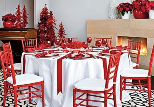 christmas table decorations pinterest   Dani   Pinterest