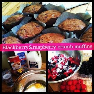 Blackberry and Raspberry Crumb Muffins. Via: Go Figure