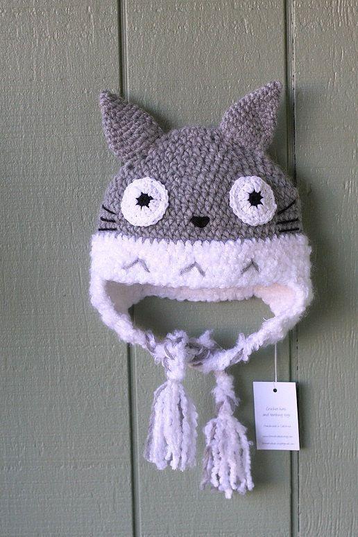 Crochet Pattern Totoro Hat : Crochet adult size hat Totoro inspired hat, Anime hat ...