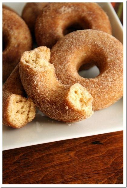 Baked} Cinnamon-Sugar Apple Cider Doughnuts via FoodieMisadventures ...