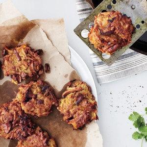 latke buffet: Celery Root and Mushroom Latkes with Onion Applesauce ...