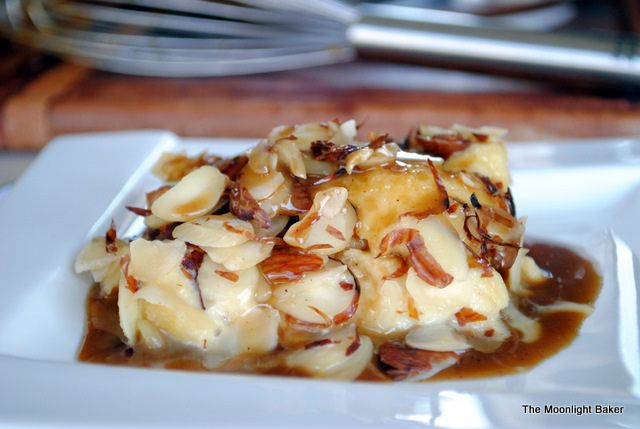 Toasted Almond Bread Pudding with Brown Butter and Amaretto Caramel ...
