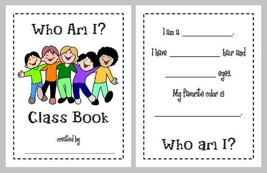 Who am i back to school class book