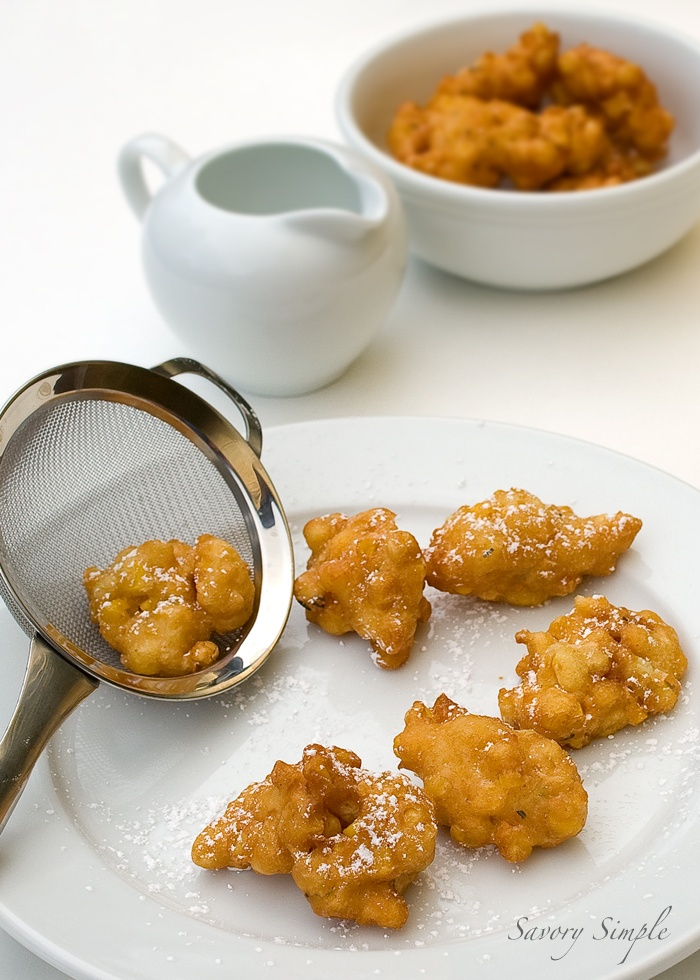 Spicy Maple Corn Fritters ~ Savory Simple