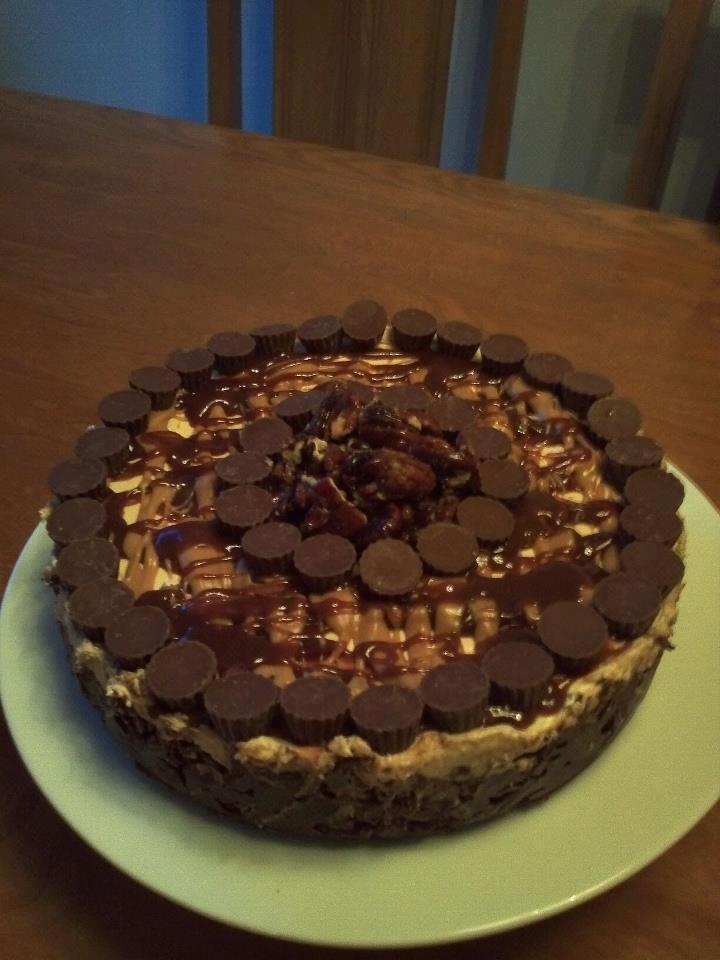 Sylvain L.'s Frozen Peanut Butter Cheesecake { #Recipe: http://www ...